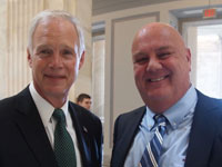 Wisconsin Senator Ron Johnson with Attorney Brian Mahany celebrating Whistleblower Day in Washington DC July 30, 2015 Photo Credit, ML McLaren